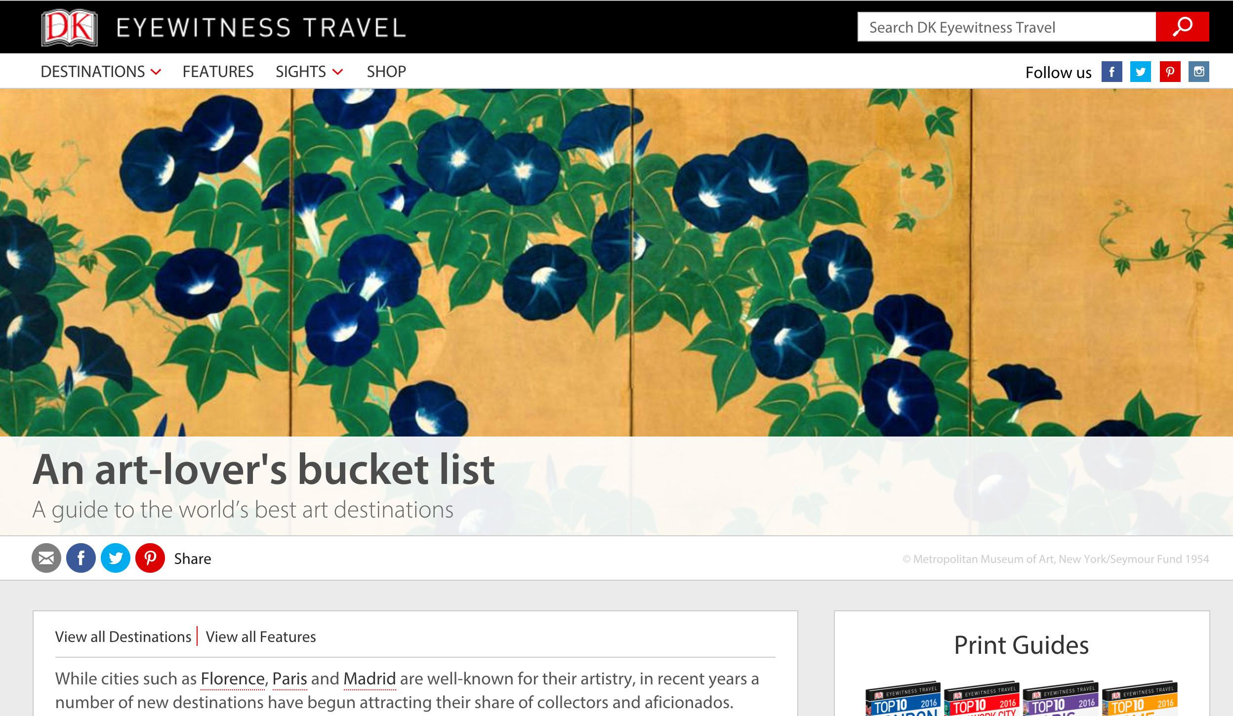 An art lover's bucket list